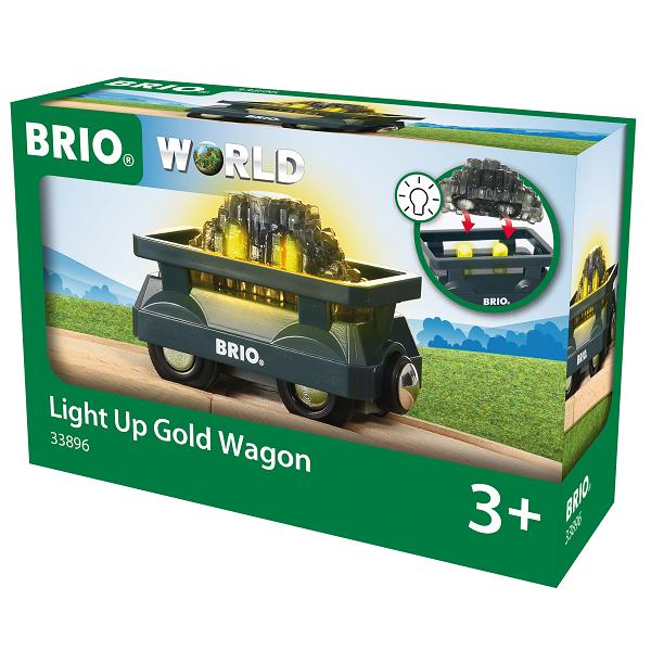 Guldvogn med lys - BRIO