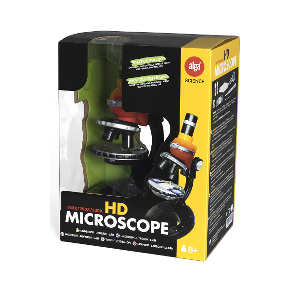 Image of HD Microscope, 100/250/500x - Alga Science (21992002)