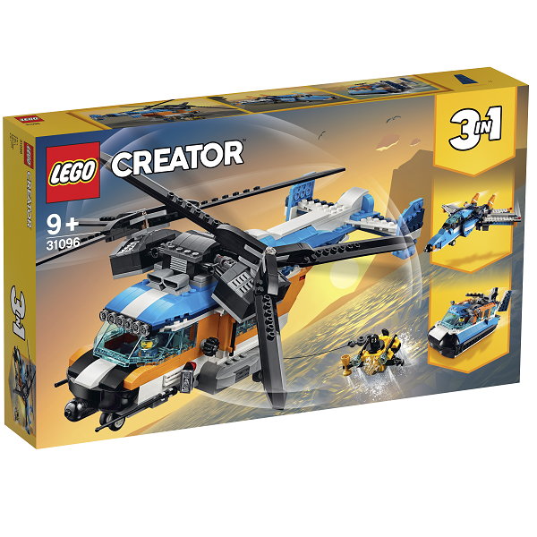 Image of Helikopter med to rotorer - 31096 - LEGO Creator (31096)