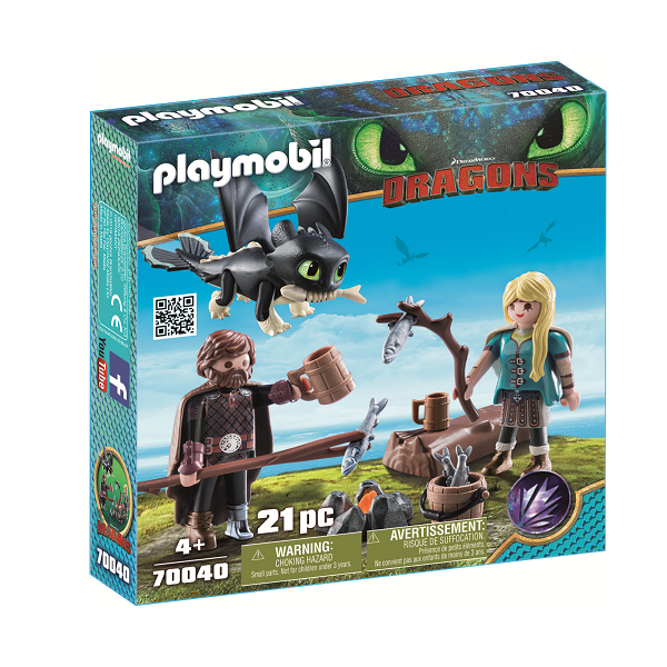Image of   Hikke og Astrid med Baby-drage - PL70040 - PLAYMOBIL Dragons