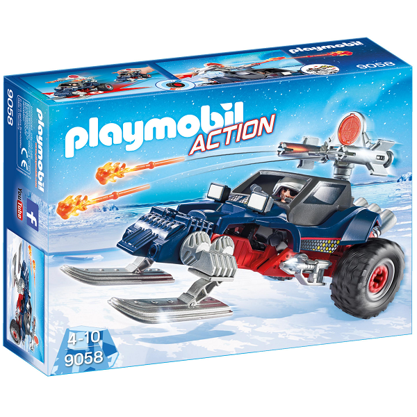 Image of Is-pirat med racerbil - PL9058 - PLAYMOBIL Action (PL9058)