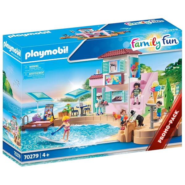 Image of Iskiosk ved havnen - PL70279 - PLAYMOBIL Family Fun (PL70279)