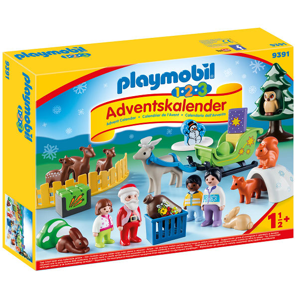 "Image of   1.2.3 Adventskalender ""Jul i dyrenes skov"" - 9391 - PLAYMOBIL 1-2-3"