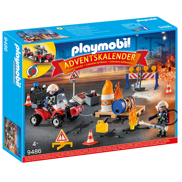 "Adventskalender ""Redningsaktion ved brand på byggepladsen""   - 9486 - PLAYMOBIL City Action"