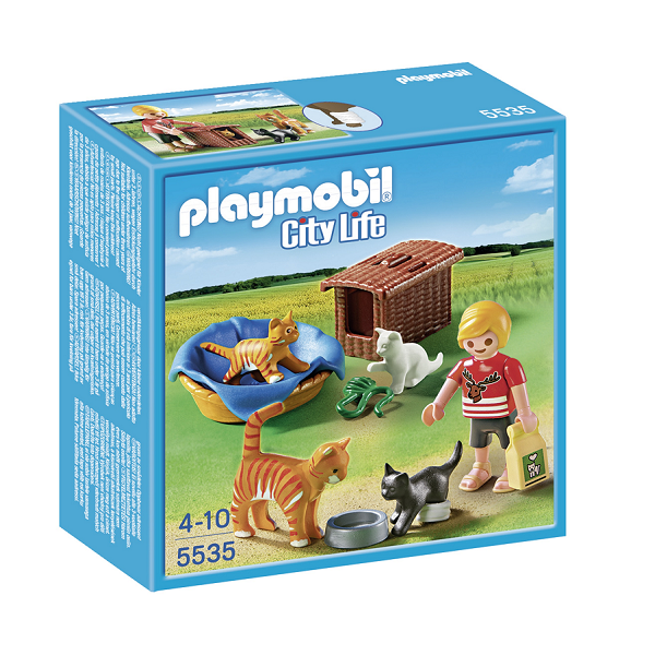 Image of Kattefamilie - 5535 - PLAYMOBIL City Life (PL5535)