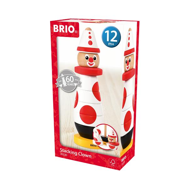 Klovn, 60 års fødselsdag, rød/hvid - BRIO
