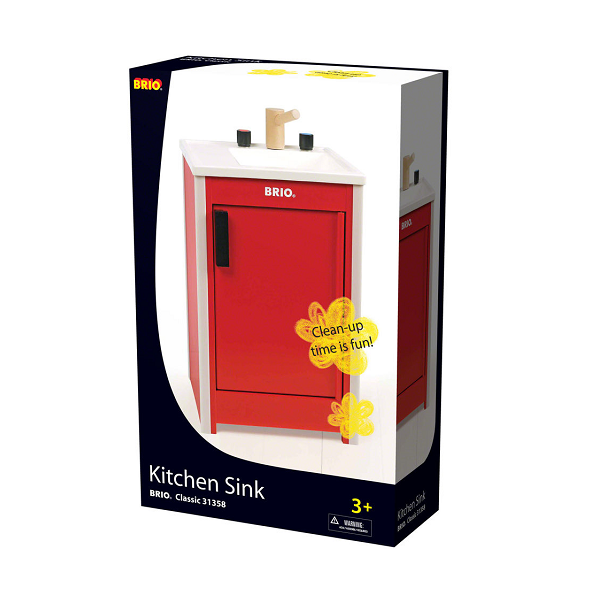 Køkkenvask, rød - 31358 - BRIO Home