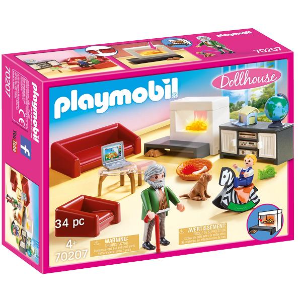Image of Komfortabel stue - PL70207 - PLAYMOBIL Dollhouse (PL70207)