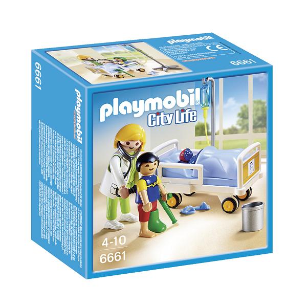 Image of Læge ved siden af barnets seng - PL6661 - PLAYMOBIL City Life (PL6661)