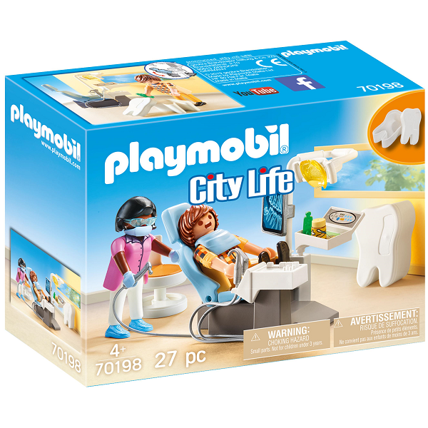 Image of   Lægespecialist: Tandlæge - PL70198 - PLAYMOBIL City Life