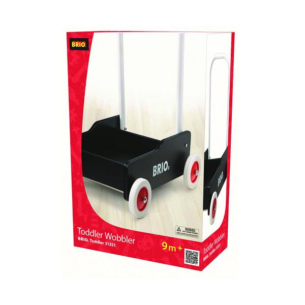 Lære-gå-vogn, sort - 31351 - BRIO Toddler