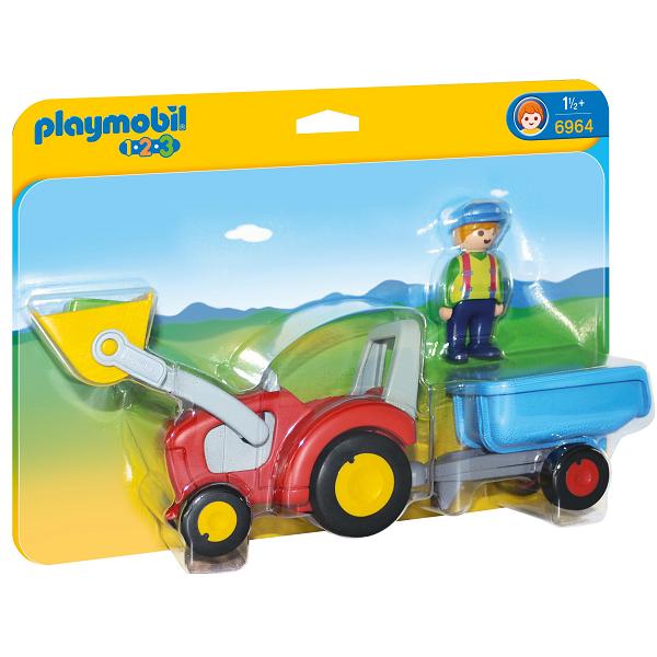 Image of Landmand med traktor og anhænger - PL6964 - PLAYMOBIL 1.2.3 (PL6964)