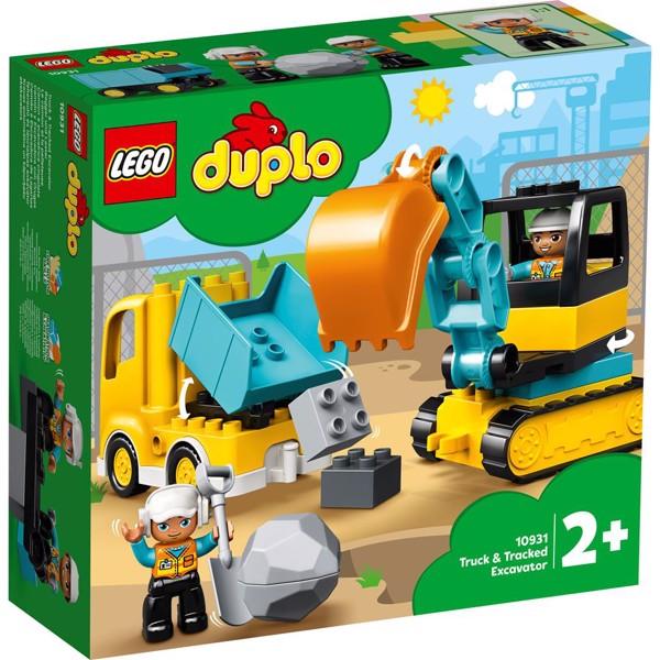 Image of Lastbil og gravemaskine på larvefødder - 10931 - LEGO DUPLO (10931)