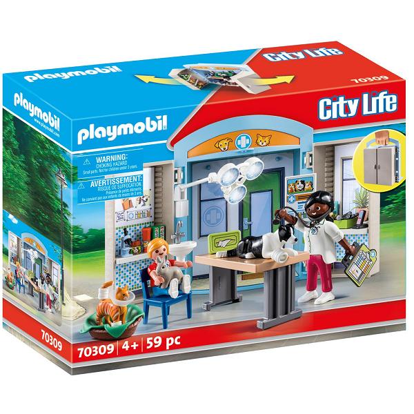 """Image of Legekasse """"Hos dyrlægen"""" - PL70309 - PLAYMOBIL City Life (PL70309)"""