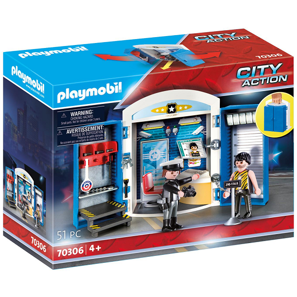 "Image of Legekasse ""På politistationen"" - PL70306 - PLAYMOBIL City Action (PL70306)"