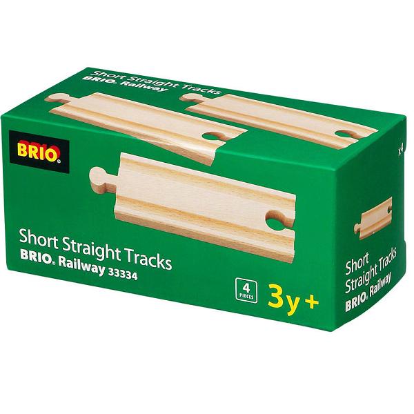 Lige skinner, korte - 33334 - BRIO togskinner