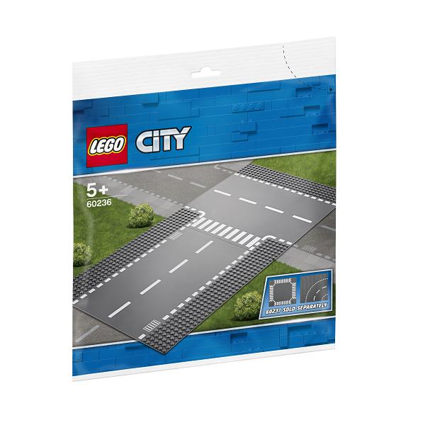 Image of Lige vejbane og T-kryds - 60236 - LEGO City (60236)