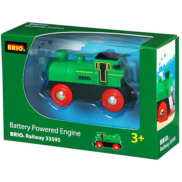 Image of Lille grønt lokomtotiv, batteridrevet - 33595 - BRIO Tog (33595)