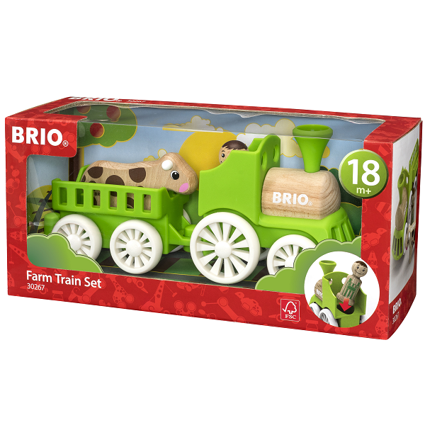 Lokomotiv m/vogn, figur, ko - 30267 - BRIO