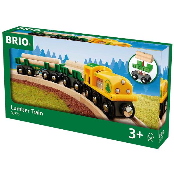 Lokomotiv m/vogne og tømmer - 33775 - BRIO