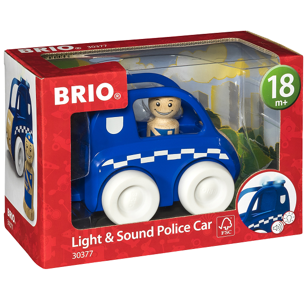 Image of Lys & lyd Politibil - 30377 - BRIO (30377)