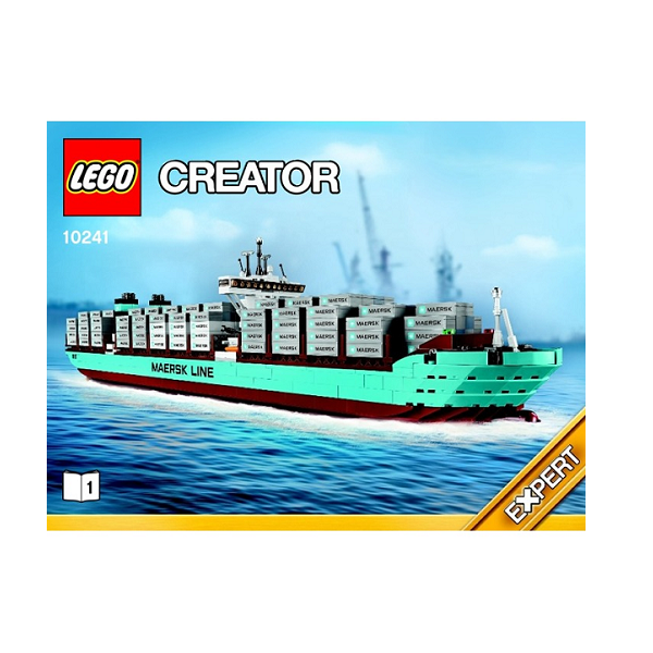 Image of Mærsk Line Containerskib Tripple E- 10241 - LEGO Advanced Models (10241)
