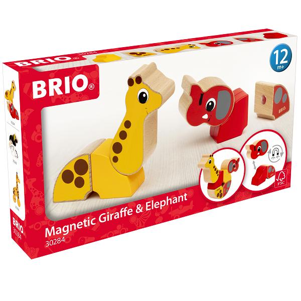 Magnetisk elefant og giraf - BRIO