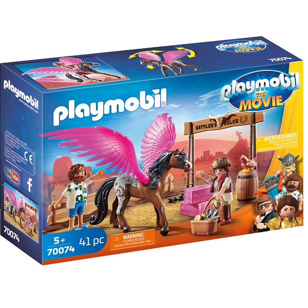 Image of Marla og Del med flyvende hest - PL70074 - PLAYMOBIL The Movie (PL70074)