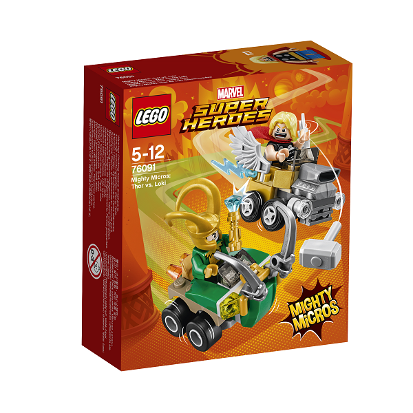 Image of Mighty Micros: Thor vs. Loki - 76091 - LEGO Super Heroes (76091)
