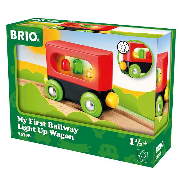 Min  første togvogn m/lys - 33708 - BRIO