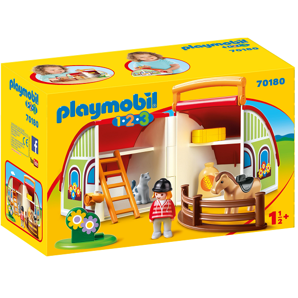 Image of Min mobile gård - PL70180 - PLAYMOBIL 1.2.3 (PL70180)