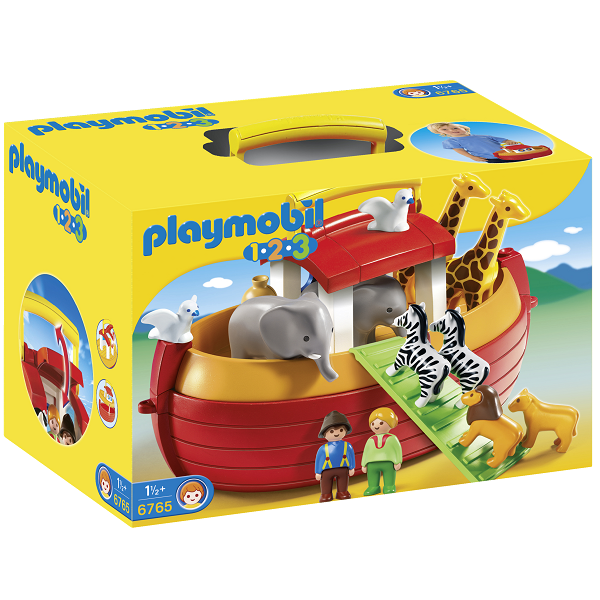 Image of Min transportable Noahs ark - 6765 - PLAYMOBIL 1.2.3 (PL6765)