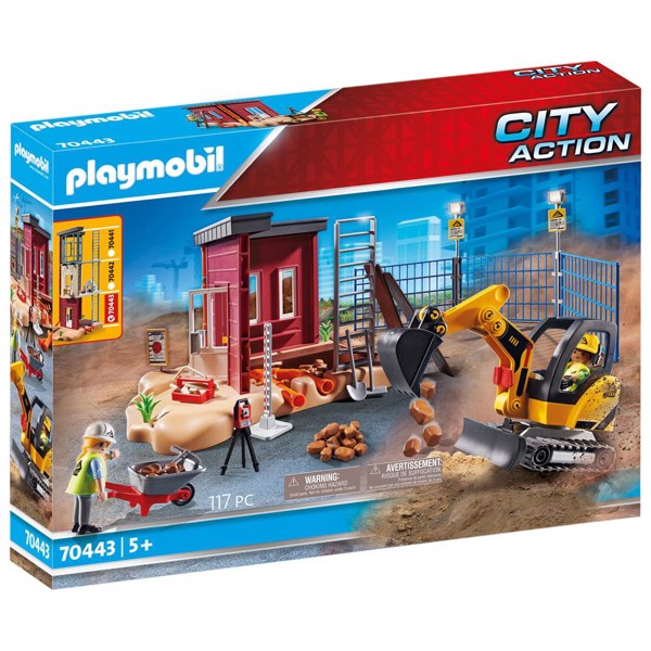 Image of Minigravemaskine med byggedel - PL70443 - PLAYMOBIL City Action (PL70443)