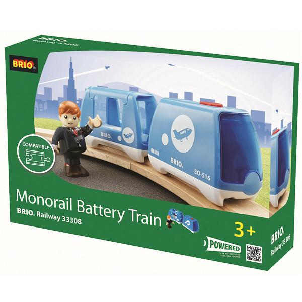 Image of Monorail Batteri tog - 33308 - BRIO Tog (33308)
