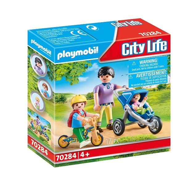 Image of Mor med børn - PL70284 - PLAYMOBIL City Life (PL70284)