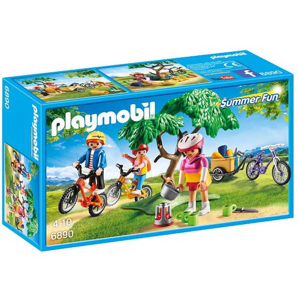 Image of Mountainbiketur med trækvogn - PL6890 - Playmobil Summer Fun (PL6890)