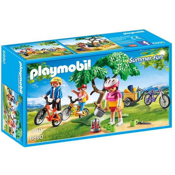 Mountainbiketur med trækvogn - PL6890 - Playmobil Summer Fun