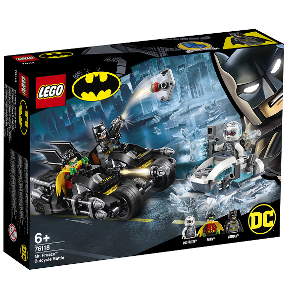Image of Mr. Freezes batmotorcykelkamp - 76118 - LEGO Super Heroes (76118)