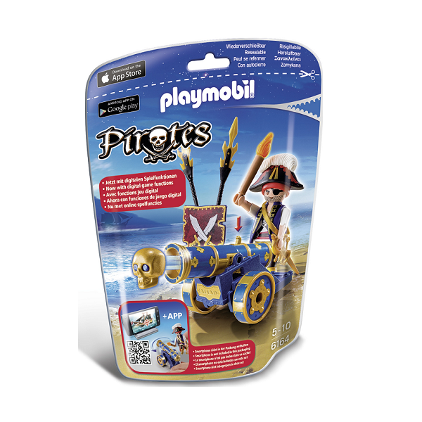 Image of Officer med blå kanon - PL6164 - PLAYMOBIL Pirates (PL6164)