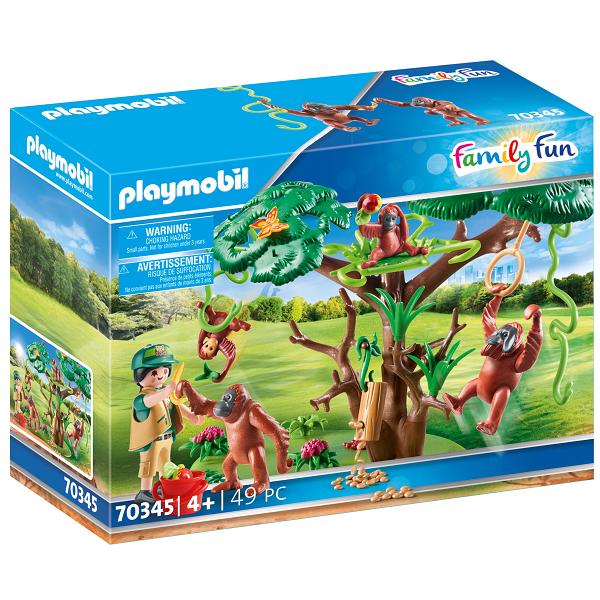 Image of Orangutanger i træet - PL70345 - PLAYMOBIL Family Fun (PL70345)