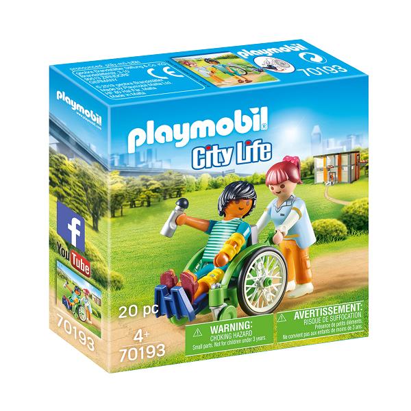 Image of Patient i kørestol - PL70193 - PLAYMOBIL City Life (PL70193)