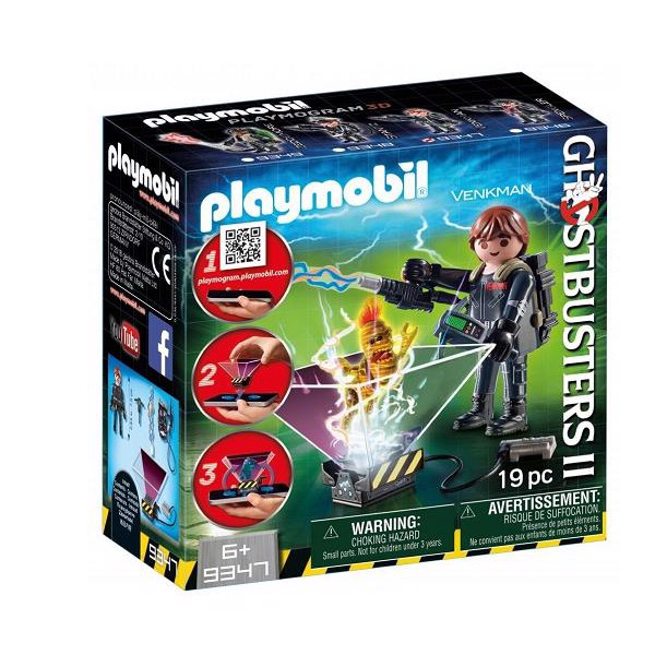 Image of Ghostbuster Peter Venkman - 9347 - PLAYMOBIL Ghostbusters (PL9347)