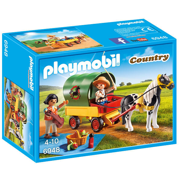 Image of Picnic med ponyvogn - PL6948 - Playmobil Country (PL6948)