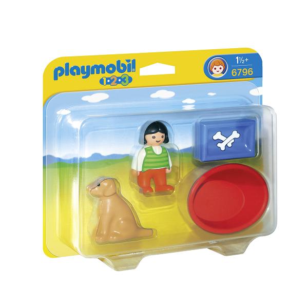 Image of Pige med sin hund - 6796 - PLAYMOBIL 1.2.3 (PL6796)