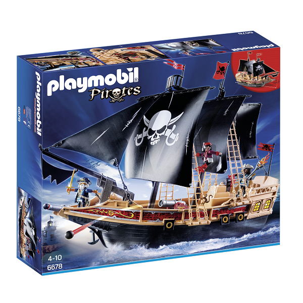 Image of Pirat angrebsskib - PL6678 - PLAYMOBIL Pirates (PL6678)