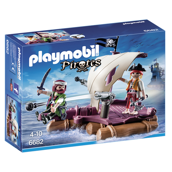 Image of Pirat tømmerflåde - PL6682 - PLAYMOBIL Pirates (PL6682)