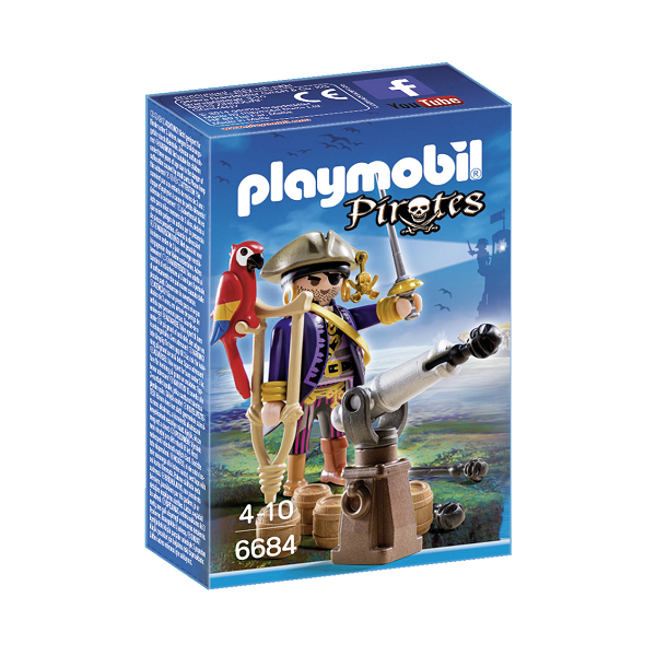 Image of Piratkaptajn - PL6684 - PLAYMOBIL Pirates (PL6684)