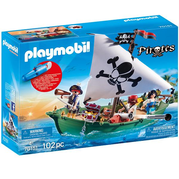 Image of   Piratskib med undervandsmotor - PL70151 - PLAYMOBIL Pirates