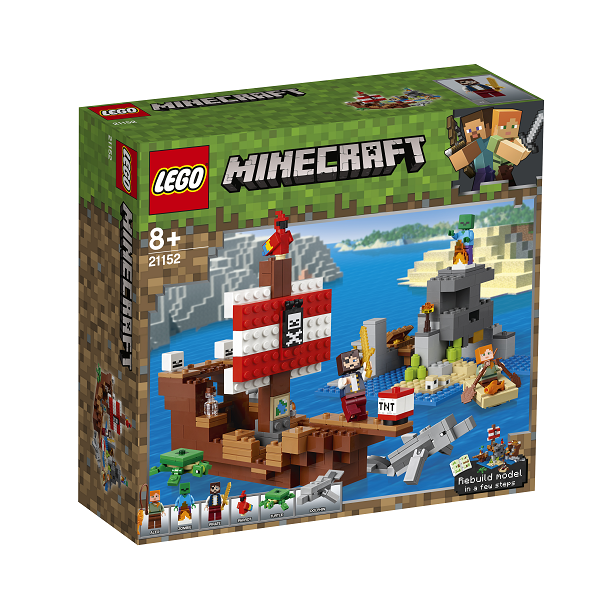 Image of Piratskibseventyret - 21152 - LEGO Minecraft (21152)