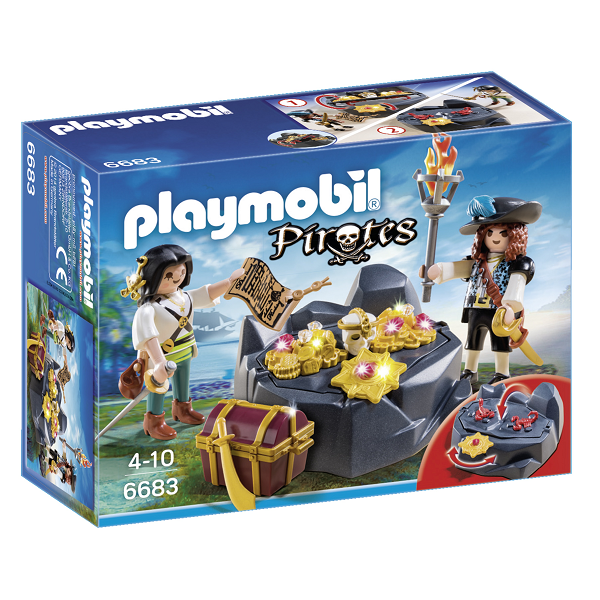 Image of Piratskjulested med skat - PL6683 - PLAYMOBIL Pirates (PL6683)